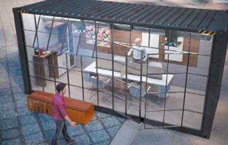 Container als Konferenzraum-der Innovationsraum