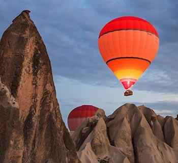 Aufsteigender Ballon
